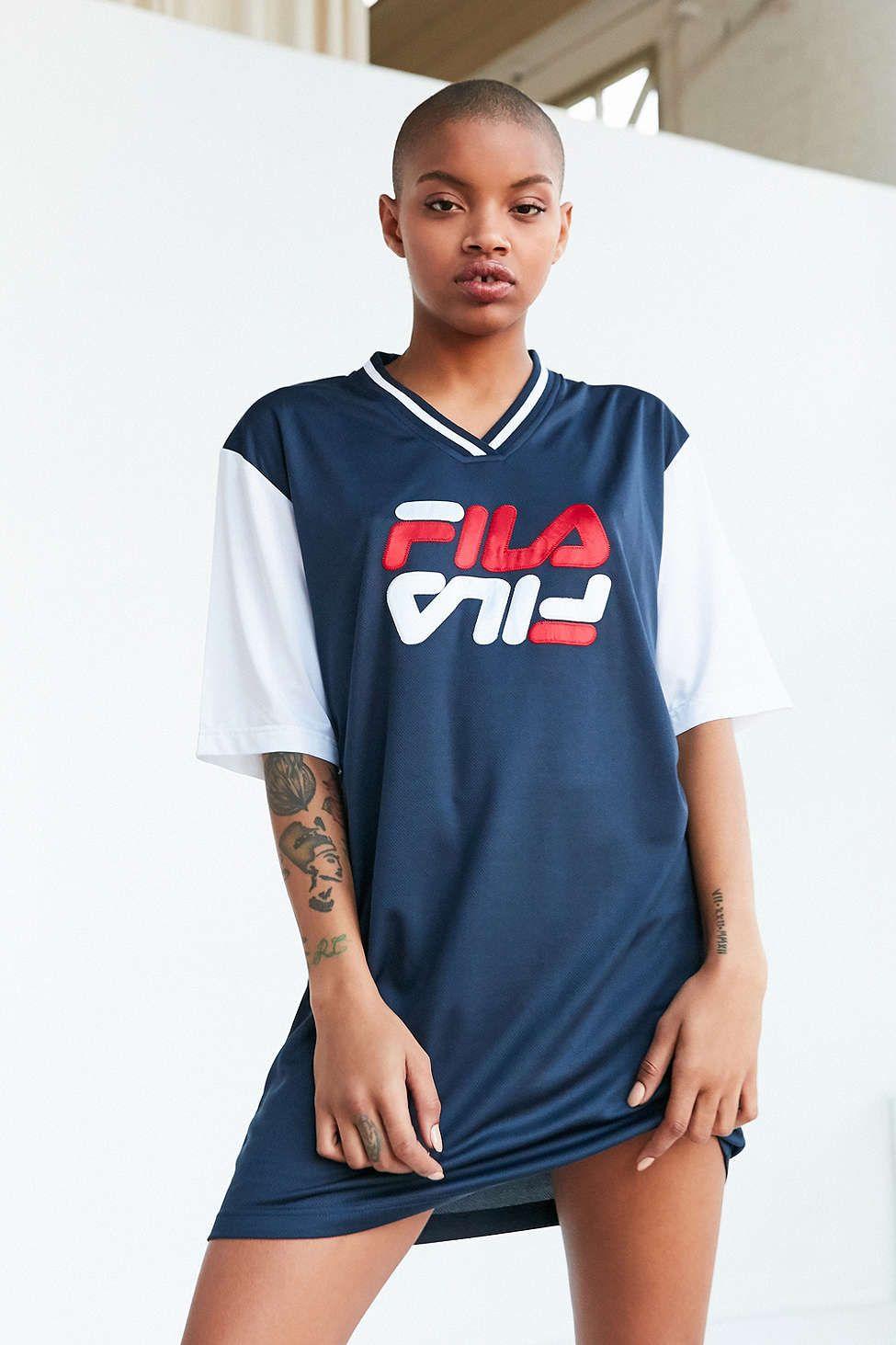 f517df357ec FILA + UO Bibi Baseball Mini Dress