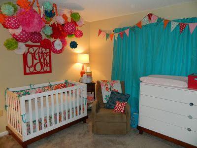 Nursery Reveal   Pom Pom Cluster, Monogram, Bunting And Baby Mod Furniture