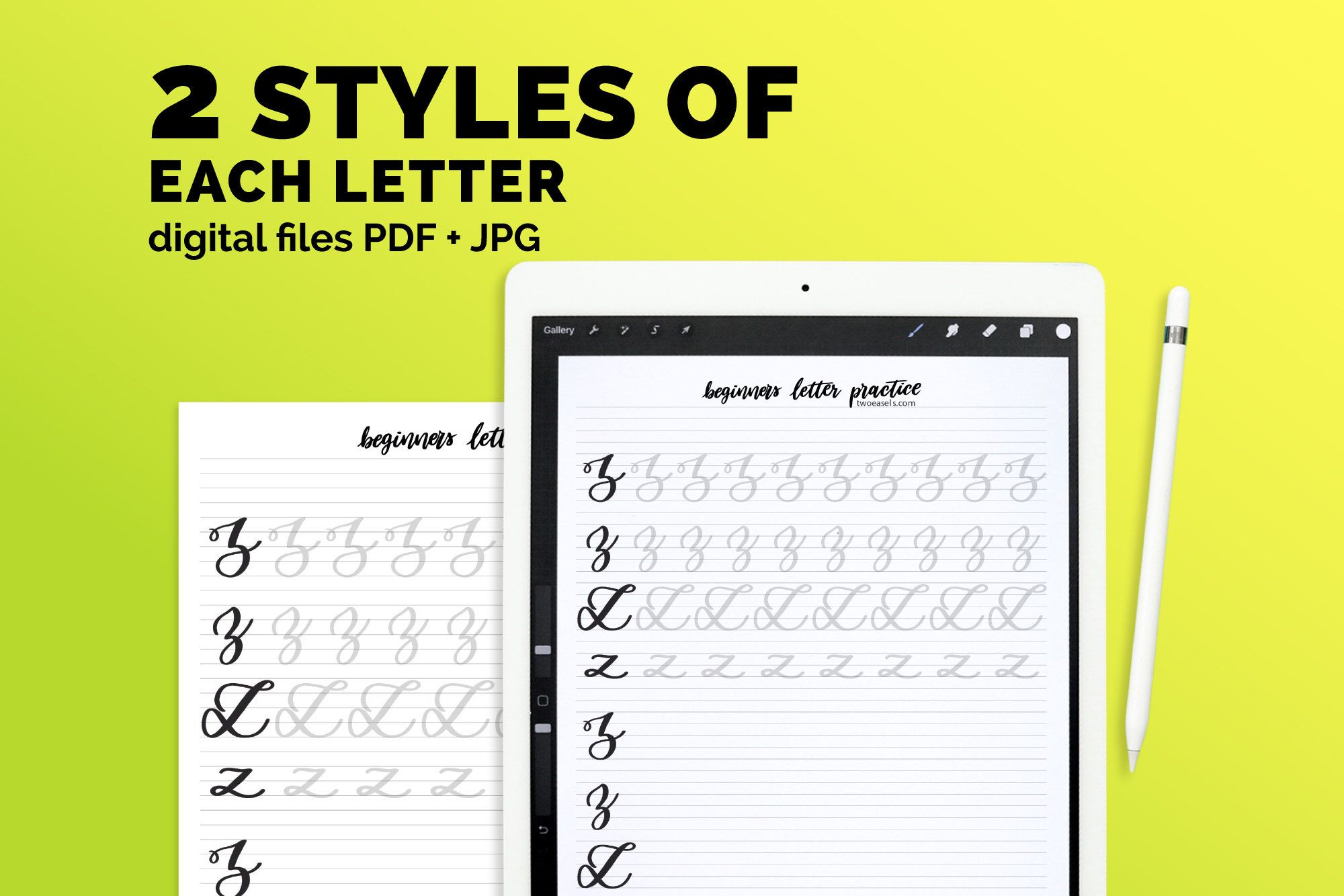 Brush Lettering Practice Drills 2 Alphabets With These