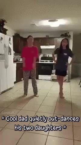 Dad Videobombs His Daughters Dancing Dad Humor Dad Dancing Funny Sports Memes