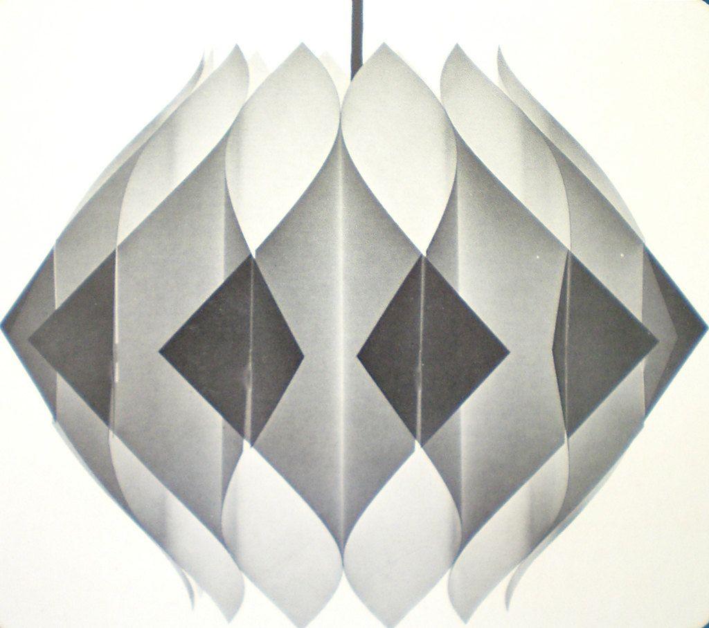 Danish modern pendant light shade kit mid century