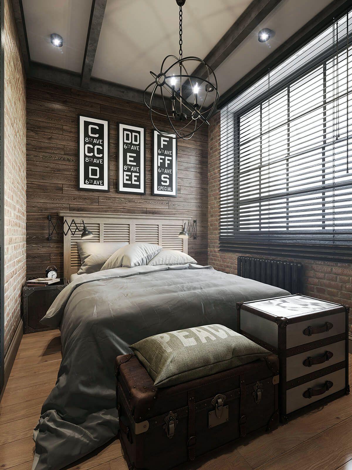 Majestic 10 Cozy Modern Industrial Bedroom Design Ideas For Cool Men S Inspiration Moder In 2020 Ideen Fur Kleine Schlafzimmer Kleines Schlafzimmer Herrenschlafzimmer