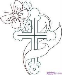 butterfly cross tattoo