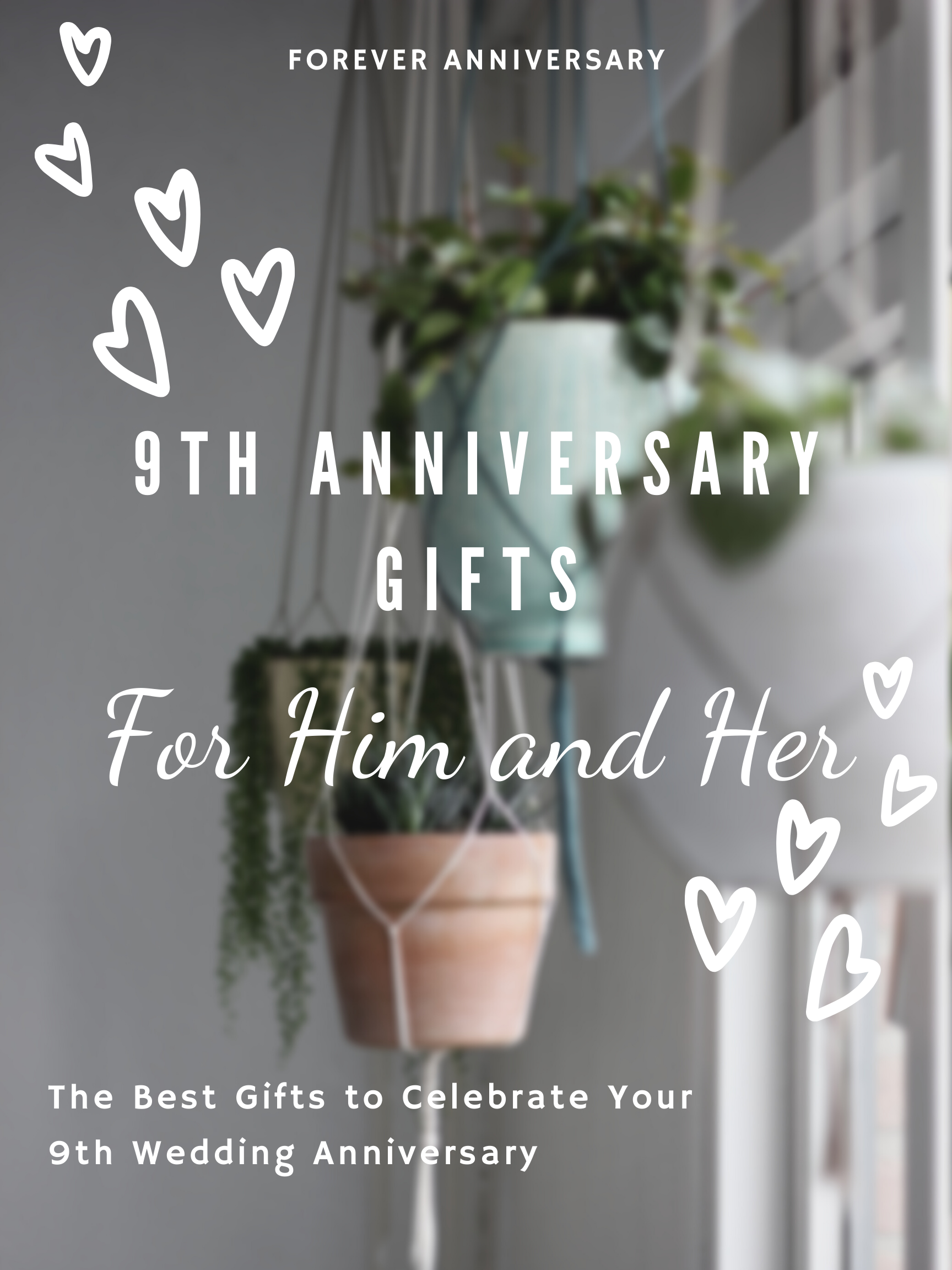 9th Anniversary Gifts for Him and Her Anniversary gifts