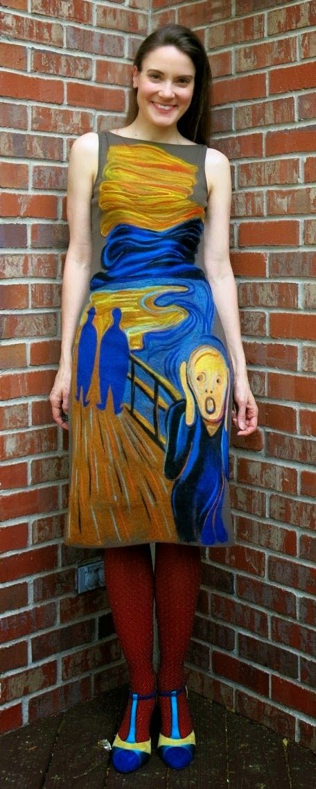 Art-inspired dresses by Nashville art teacher Cassie Stephens.