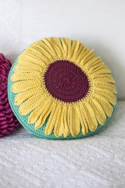 Sunflower Cushion Cover Crochet Pattern   The Knitting ...