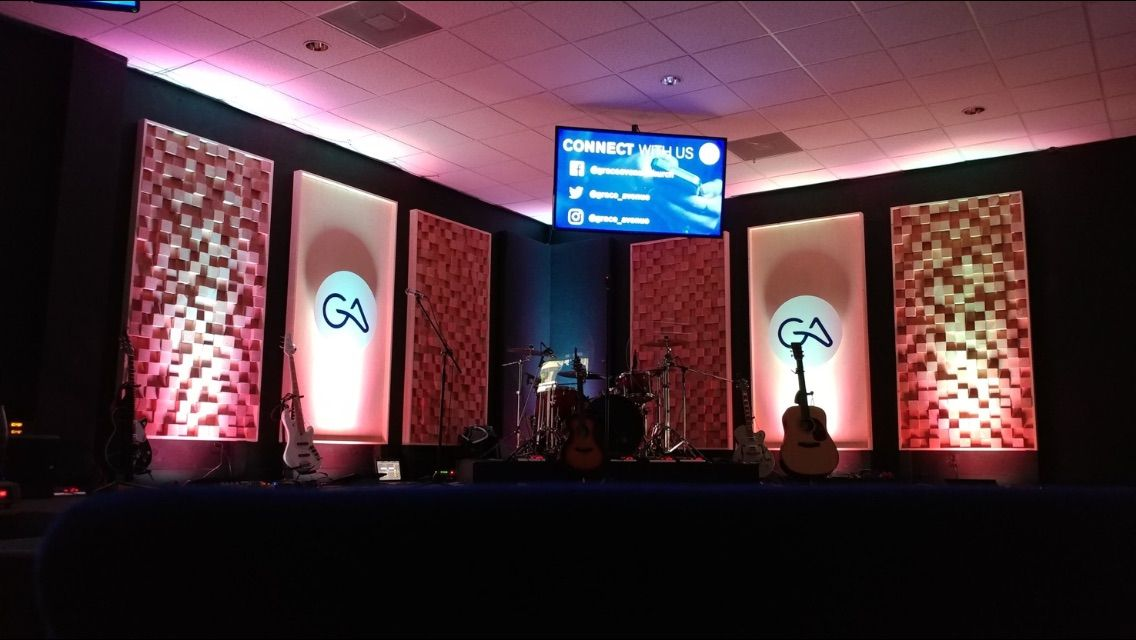 Blocked And Shadowed From Grace Avenue CHurch In San Antonio, TX | Church  Stage Design