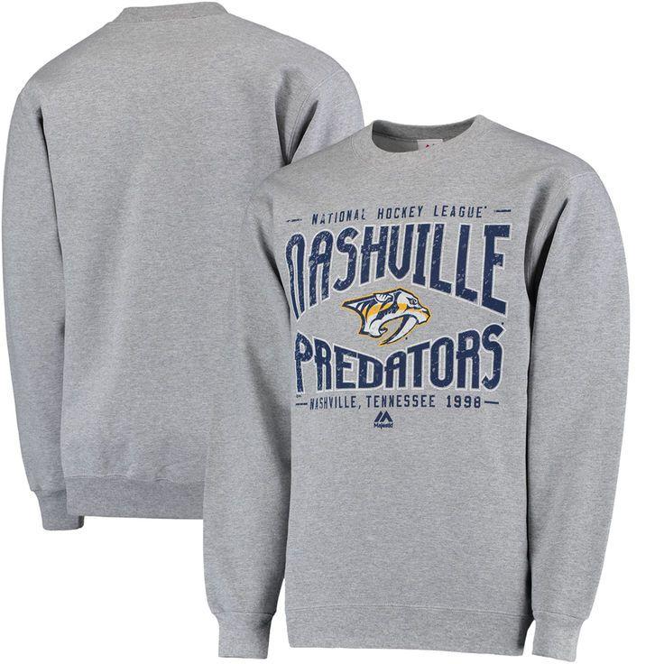 Nashville Predators Majestic Ice Classic Pullover Sweater - Gray - $37.99