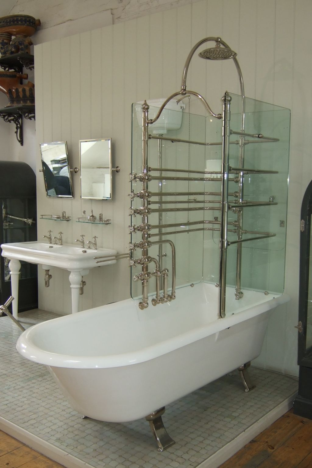 Mercury glass bathroom accessories - Canopy Bath Glass Screens The Water Monopoly