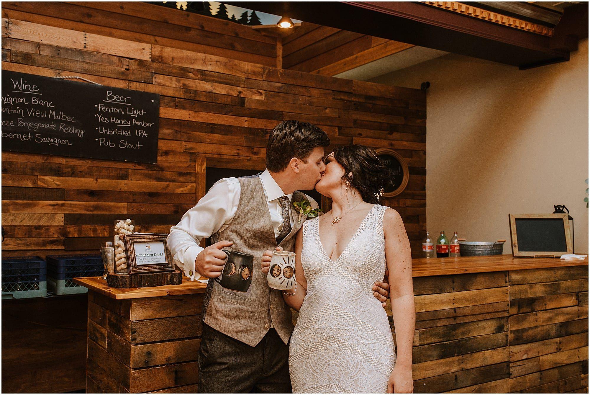 Summer Fenton Brewery Winery Wedding in 2020 Michigan