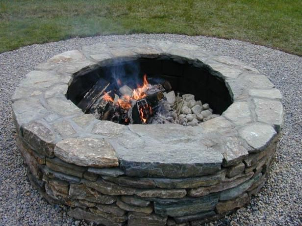 building a backyard fire pit stone landscape pavers and