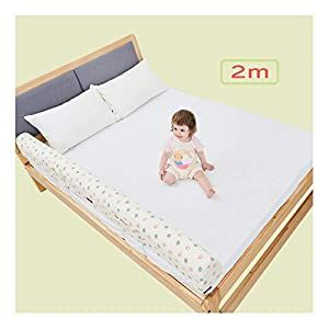 Bonus Kit Regalo Extra Long Toddler Bed Rail Bumper Foam Safety Guard For Bed Includes Waterproof Cover And Reinforced Anchor Safety System White