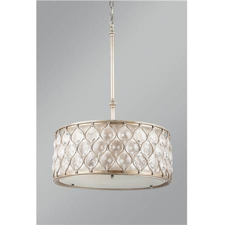 Hourglass And Crystal Drum Pendant Lighting 599 Drum Shade