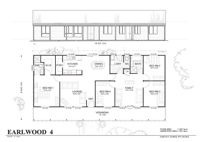 Met Kit Homes Floor Plans Blaxland 3 Affordable Budget Steel Frame