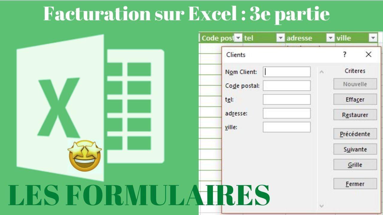 Facturation automatisée sur Excel 3e partie création des