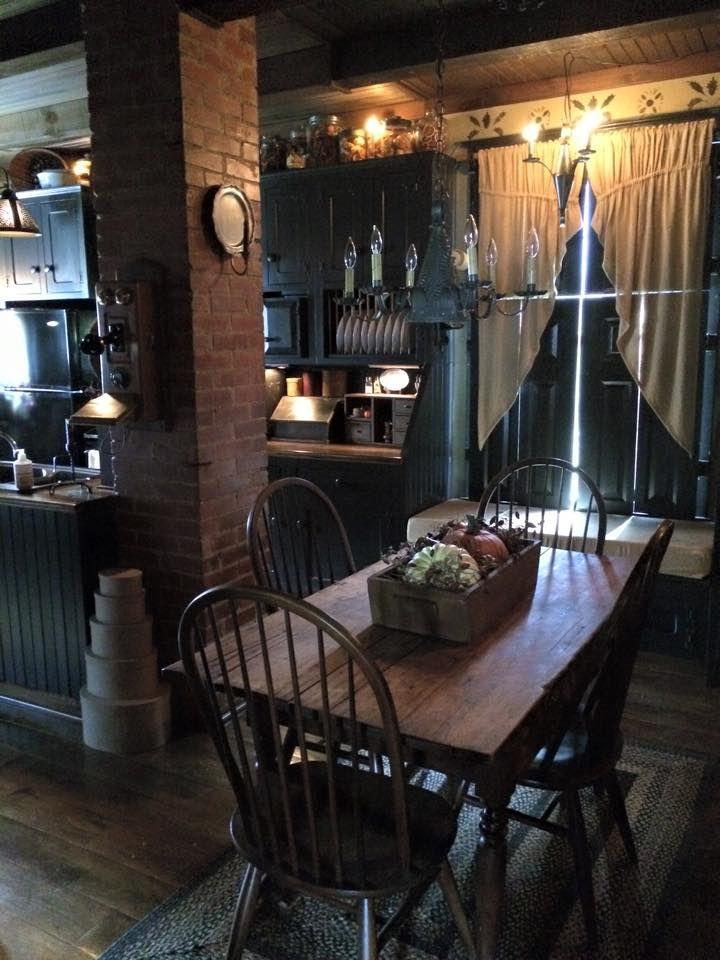 Primitive kitchen   Colonial Home   Pinterest   Ideas de cocinas ...