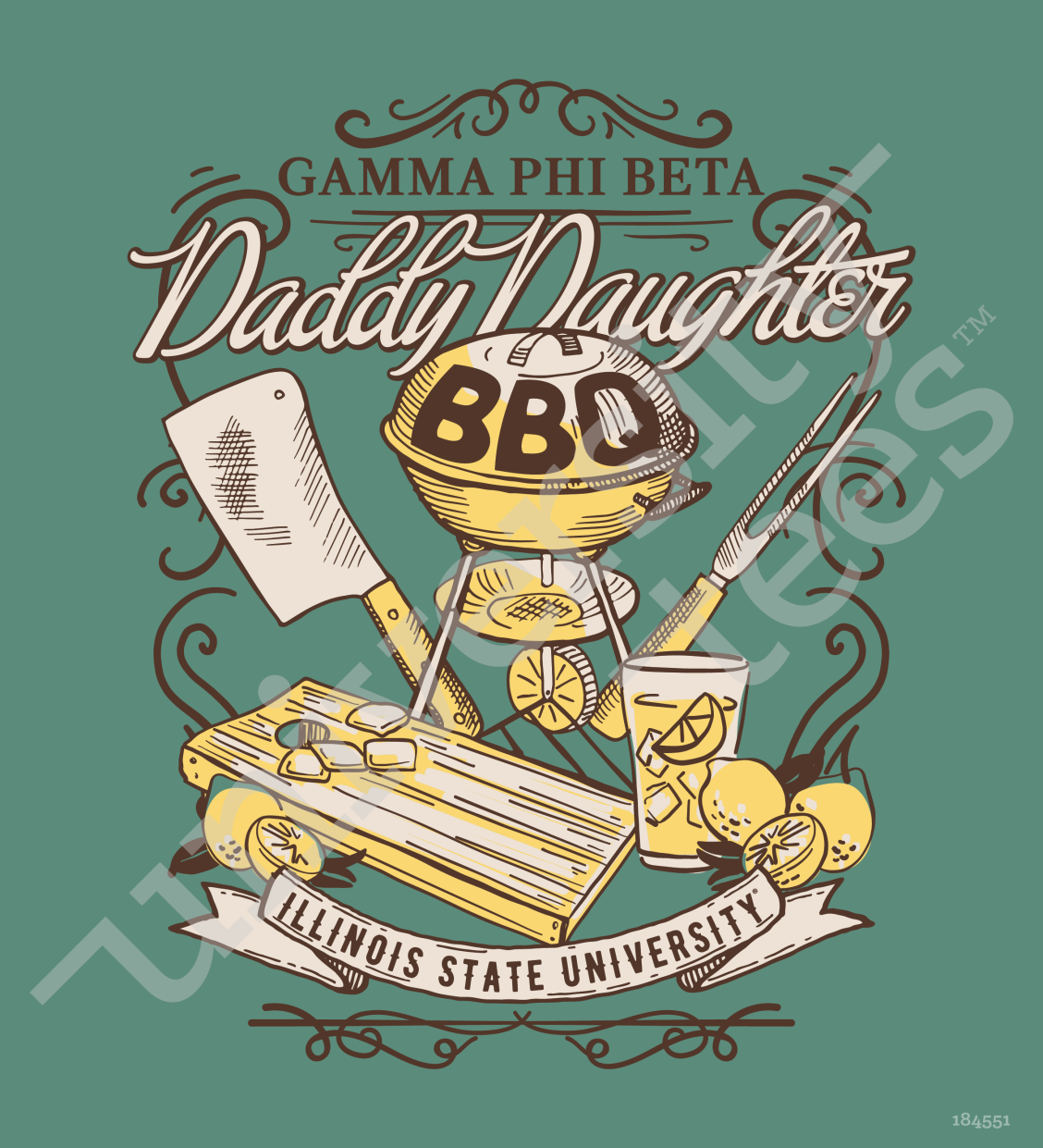 Bbq Gamma Gamma Phi Beta Daddy Daughter Bbq Design I Made By University Tees