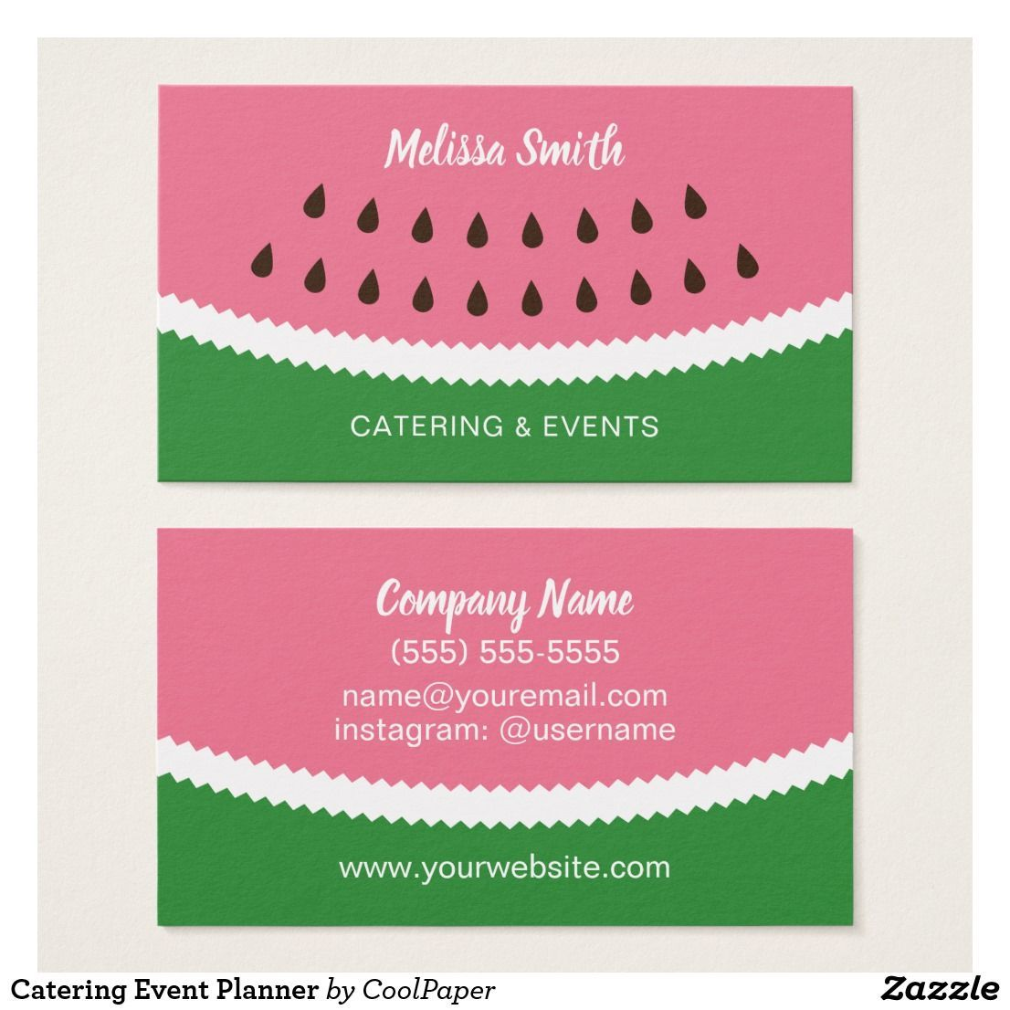 Catering Event Planner Business Card Template Promote Your Food Service Ev Event Planner Business Card Event Planning Business Event Planning Business Cards