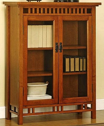 Mission craftsman bookcase wglass doors in lighter stain for mission craftsman bookcase wglass doors in lighter stain planetlyrics Choice Image