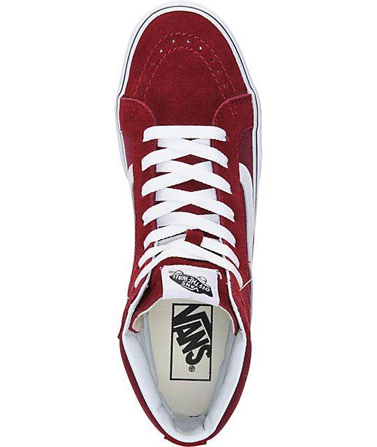 a2244ffc3d Vans Sk8-Hi Slim Windsor Wine Shoes (Womens)