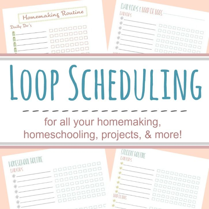 photograph relating to Loop Schedule Printable identified as Loop Setting up Printables for Homeschooling Much more