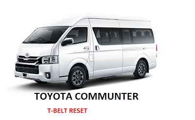 Toyota Commuter T-belt Warning Light Reset | Commuter, T-belt
