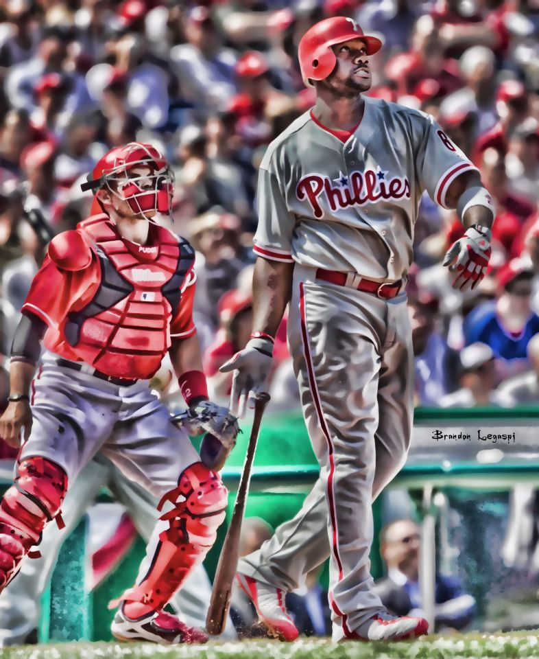 Ryan Howard Phillies, Philadelphia phillies, Major
