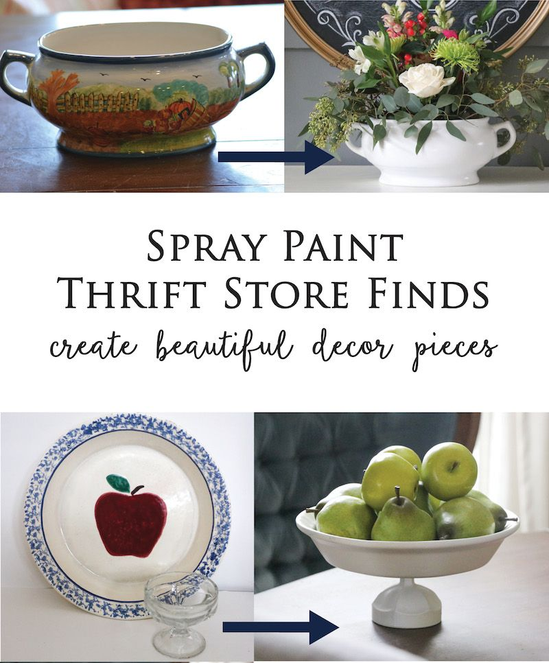 Spray Paint Thrift Store Dishes - Sincerely, Sara D. | Home Decor & DIY Projects