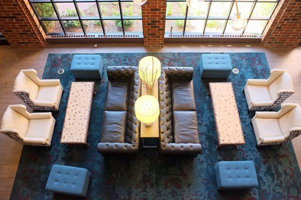 Commonshotellobbyabove Jpg 600 399 Hotel Lounge Lounge Seating Furniture Arrangement