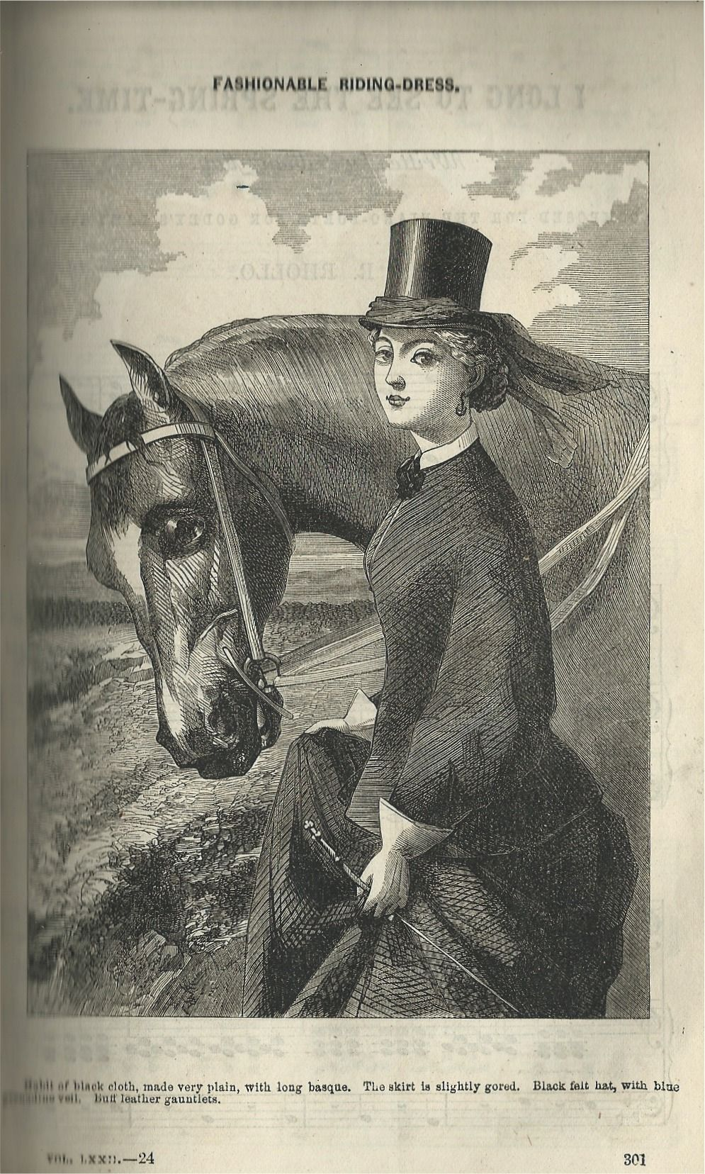 Godey's Lady's Book - Hair and Accessories 1866