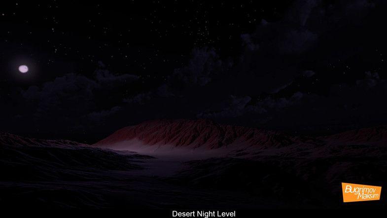 Desert Night Ad 3d Night Desert Landscapes Environments With Images Landscape 3d Landscape Desert Landscaping