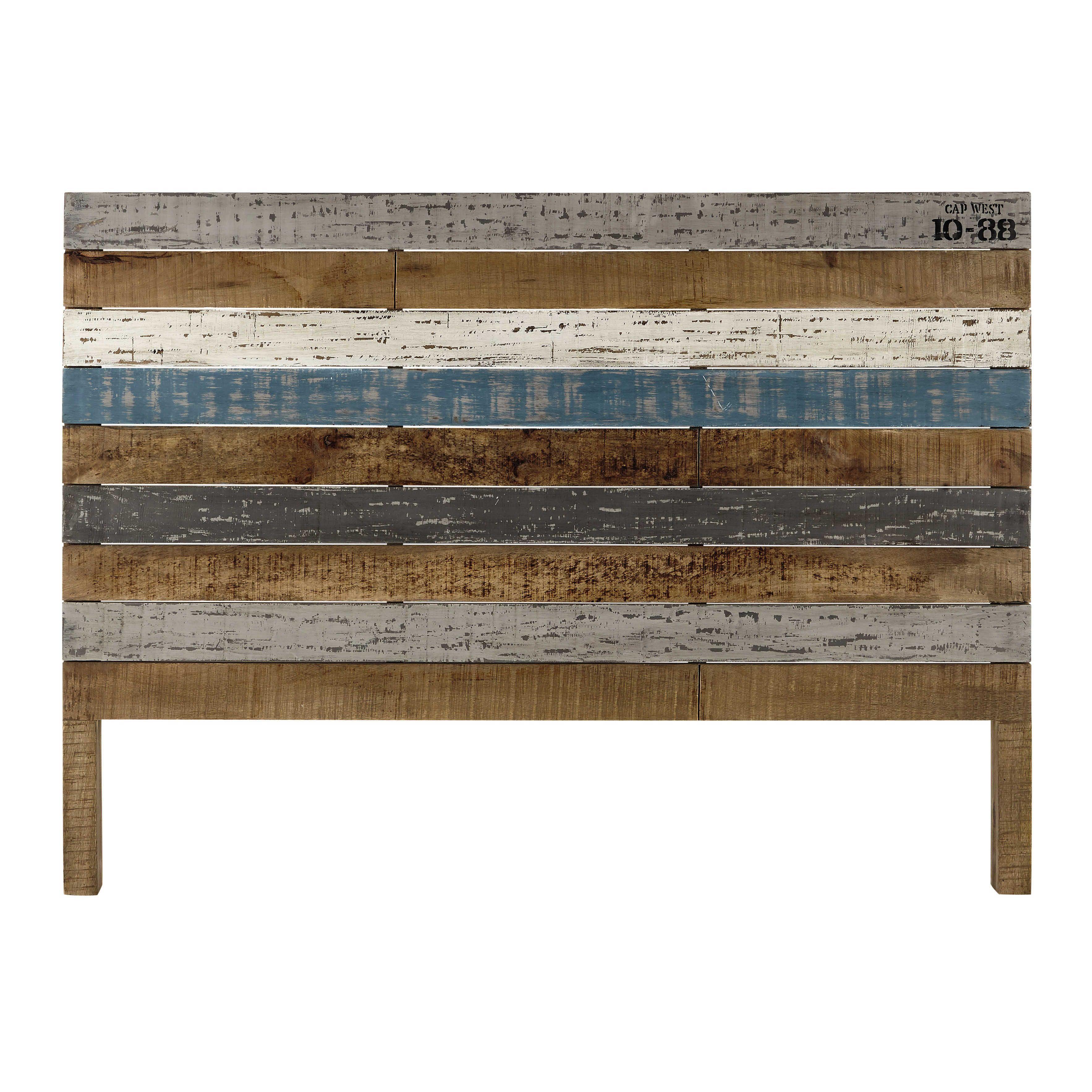 Cabecero 160 cm de listones de madera de mango  Sailor