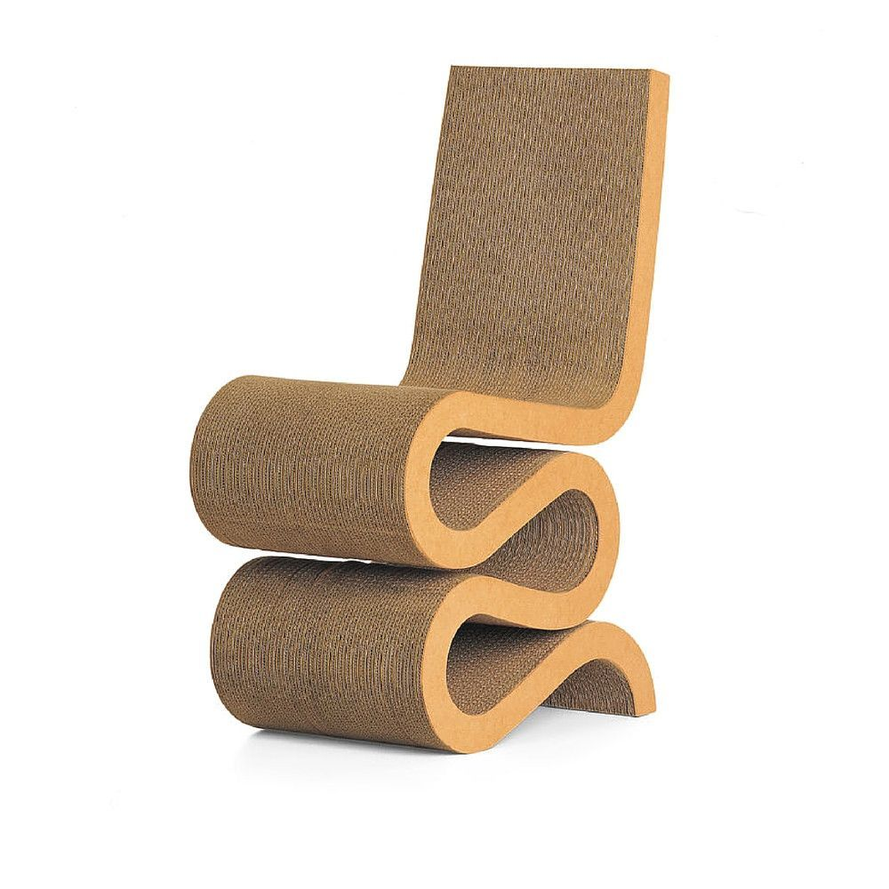 Comfortable cardboard chair designs - Frank Gehry Wiggle Chair Vitra Designchair Designcardboard