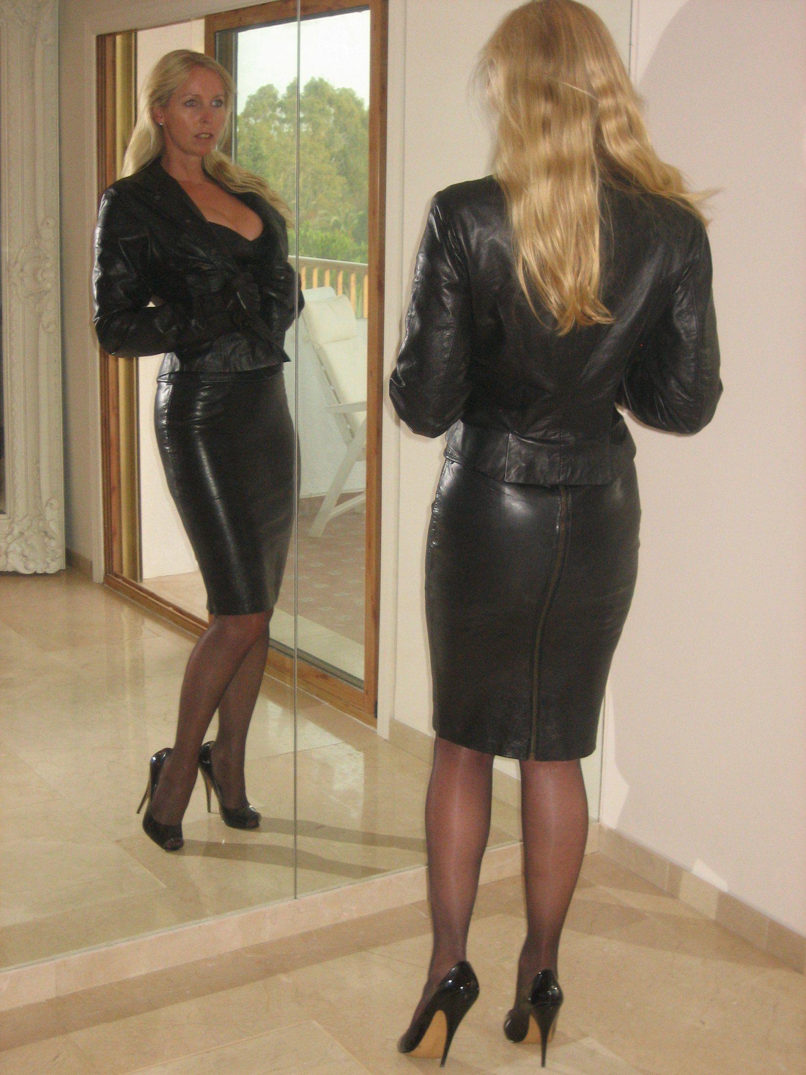 Amateur leather mini