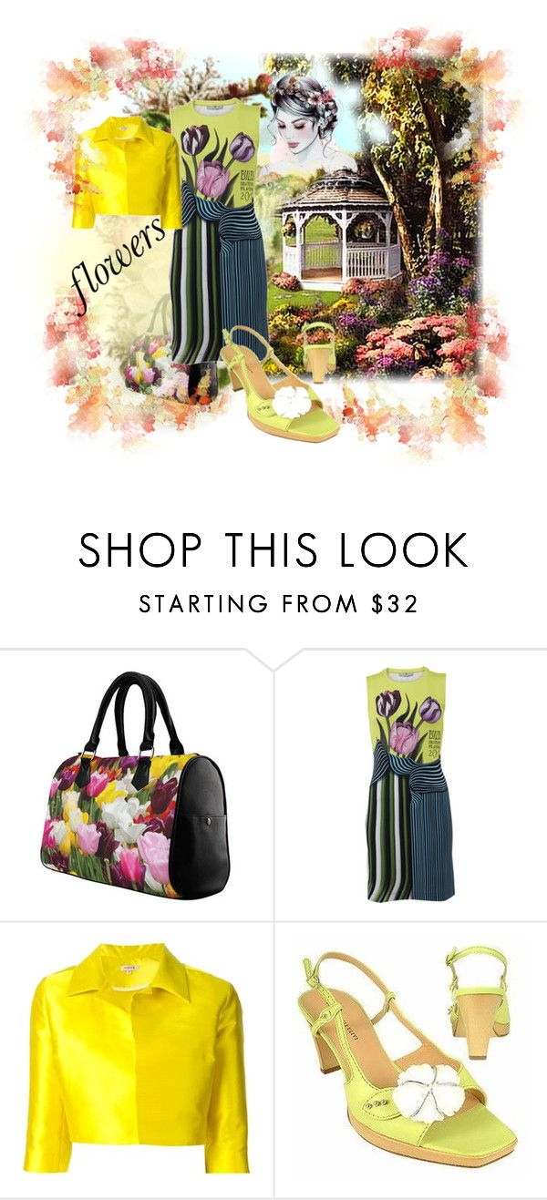 """brighten up with flowers"" by gilliewill ❤ liked on Polyvore featuring Mary Katrantzou, P.A.R.O.S.H. and Borgo degli Ulivi"
