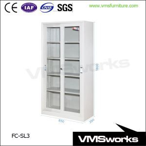 China Stainless Steel Sliding Galss Door Filing Storage Cabinets Glass Door Filing Cabine Office Storage Furniture Filing Cabinet Storage Steel Filing Cabinet