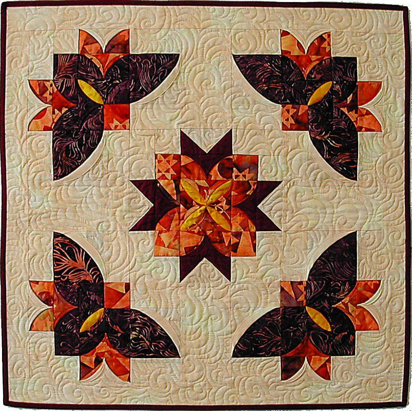 Butterfly Orchids Butterfly Quilt Pattern Flower Quilts Drunkards Path Quilt