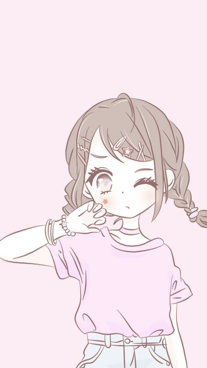 Cute Kawaii Anime Wallpaper : kawaii, anime, wallpaper, Flowy, Anime, Wallpaper,, Kawaii, Drawings,, Wallpaper