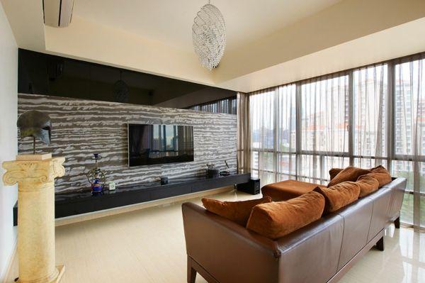 Mur de foyer contemporain recherche google mur de foyer maison maisons contemporaines et - Decoration foyer salon ...