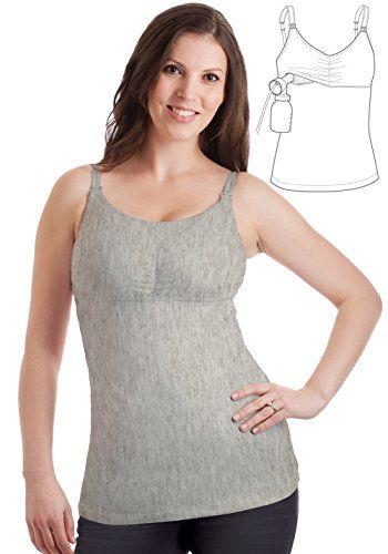 c0c288e569e09 Ruminas Full Coverage Nursing Tank with HandsFree Pumping Bra Gray M -- Be  sure to check out this awesome product. (This is an affiliate link)   BabyFeeding