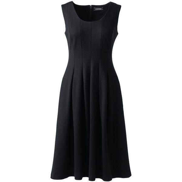 Landsu0027 End Womenu0027s Petite Sleeveless Ponte Godet A-line Dress (260