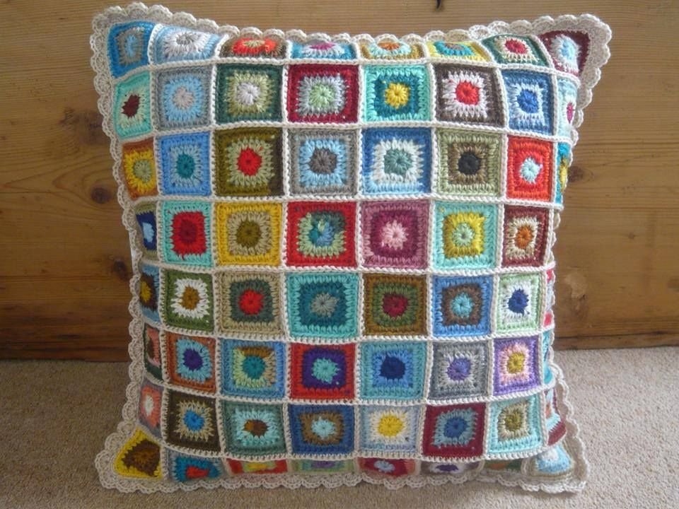 This beautiful cushion is by Sharon Humphreys - a member of the Creative Crochet…