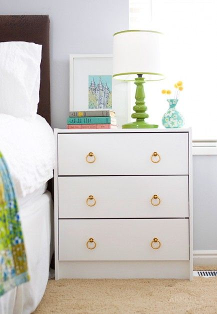 Use a small dresser as a night stand.