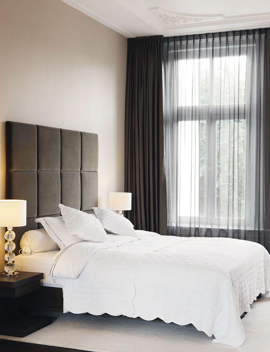 Donkere vitrage - Bedroom   Pinterest - Vitrage, Slaapkamer en Gordijnen