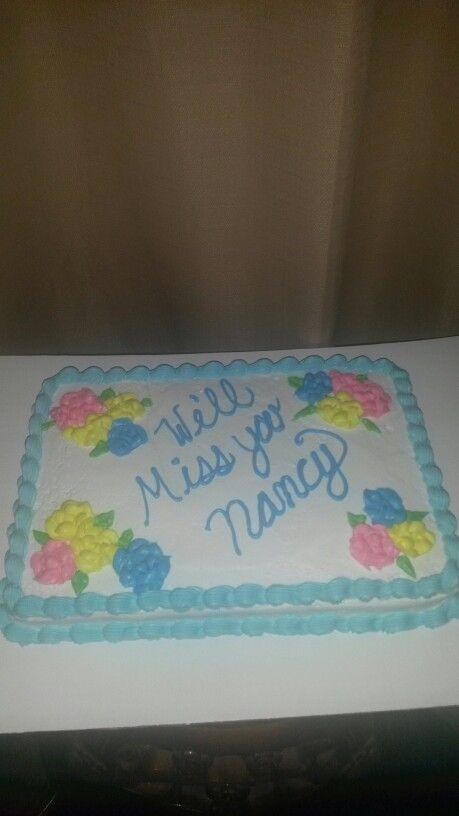 Sheet Cake Designs For Retirement : Simple sheet cake!