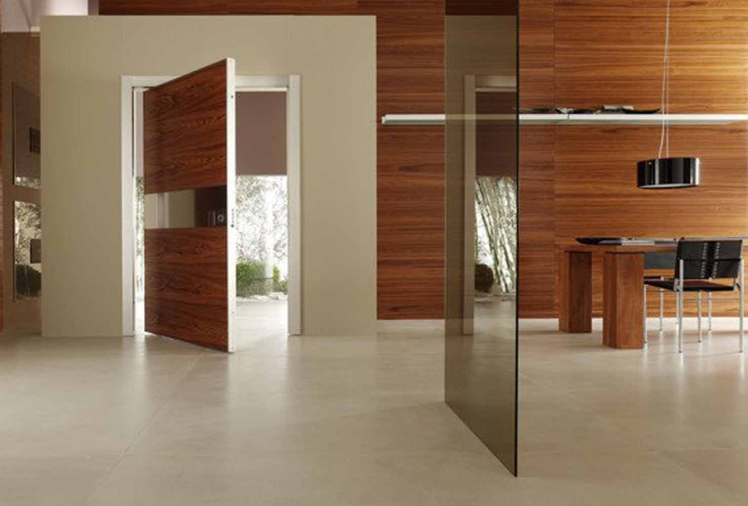 Ordinaire Excellent Modern Entry Doors For Home With Solid Wood Textured Entry Doors  Combined Silver Paneling Featuring White Sash Frame On White Wall Ideas.