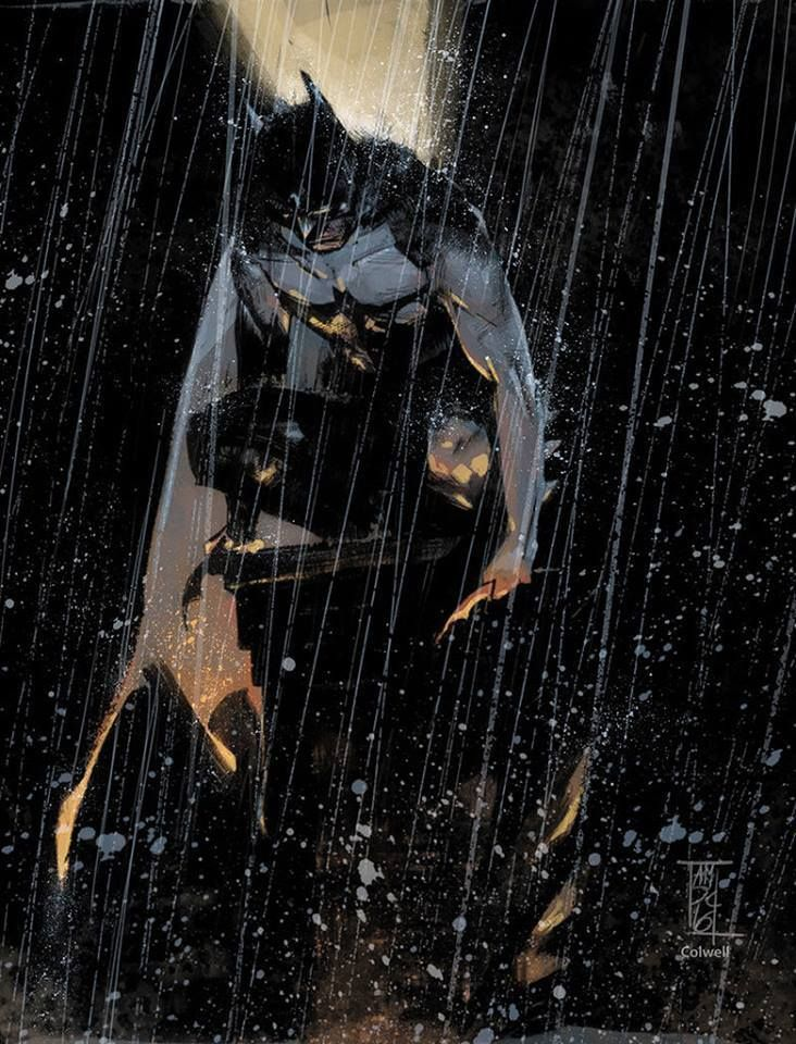 Batman by Alex Maleev, colours by Jeremy Colwell *