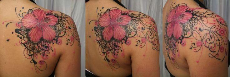 Hibiscus Shoulder Tattoos Flower Shoulder Tattoo Tattoo