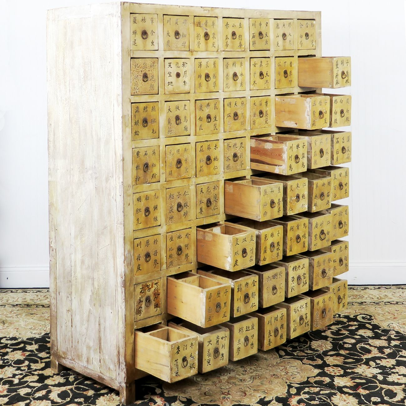 Antique Chinese Medicine Herb Cabinet 56 Drawer This Unusual Can Be Used To Many Items And Would The Focal Point Of Any Room