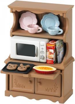 413 *Sylvanian Families furniture cupboard oven range set mosquito